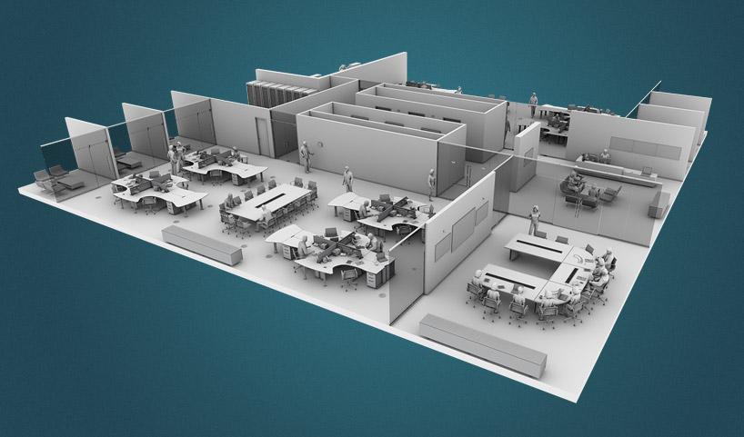 JCI – Executive Briefing Center_floorplan_model_render