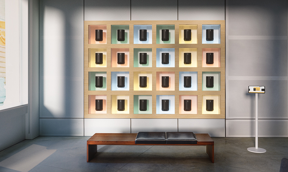 Sonos // Retail Display 3D Renders